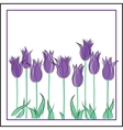 Creative hand-drawn tulips vector image