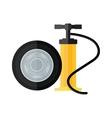 Device hand bicycle and car pump flat cartoon vector image