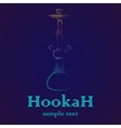 Hookah outline gradient vector image
