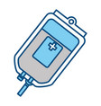 isolated donate blood bag vector image