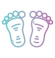 line baby footprint design icon vector image