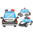 Police cars vector image