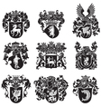 set of heraldic silhouettes No5 vector image