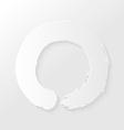 Zen circle paper shadow vector image