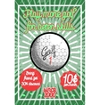 Color vintage golf poster vector image
