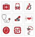Heath Care icons vector image