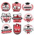 high school and college graduation off to school vector image vector image