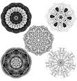 set from five round mandalas vector image