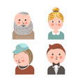 people face avatars for social net applications vector image