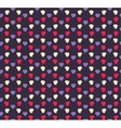 Seamless geometric hearts pattern vector image vector image