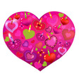 Valentines Day Card With Color Hearts vector image vector image