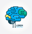 Logo brain template Brain distortion concept vector image