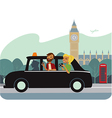 Tourists in London vector image