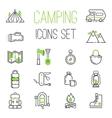 Camping icons set vector image