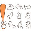 Hands in Gloves vector image