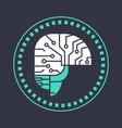 abstract brain neurons activity medicine thinking vector image