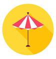 Beach Sun Umbrella Circle Icon vector image