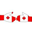 Canadian handshake vector image