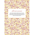 Card cover with many red stars and text template vector image