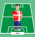 Computer game Serbia Football club player vector image