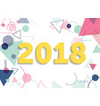 flat postcard new year 2018 vector image