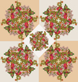 floral pattern background beauty vector image