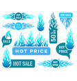 hot price winter sale text labels vector image