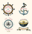 set of engraved vintage hand drawn old labels vector image