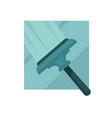 special compact rubber brush for glass surfaces vector image