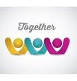together concept design vector image