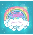 Unicorn rainbow in the clouds vector image