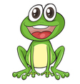 Simple frog vector image