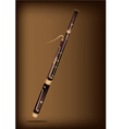 A Classical Bassoon on Dark Brown Background vector image vector image