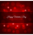 valentines day red lights design background vector image vector image