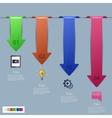 modern infographic element design Eps 10 vector image vector image