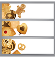 banners with cookies vector image