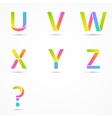 Logo letters u v w x y z question company design vector image