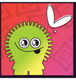 Monster with heart on abstract color background vector image vector image
