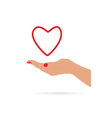 heart in hand love vector image