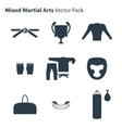 Mix Martial Arts Icons Set vector image
