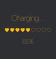 charging heart bar vector image