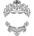 Dark ornamental frame on white background vector image
