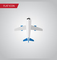 isolated plane flat icon aircraft element vector image