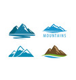 mountain rock logo vector image