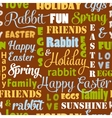 Seamless easter pattern with typography vector image