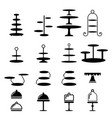 set of cake stand in silhouette icon vector image
