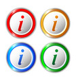 set of different information buttons for design vector image