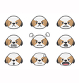 Shih Tzu cartoon emotion vector image