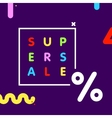 Super sale web shop discount banner vector image