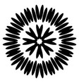 symmetrical black aster circular pattern vector image